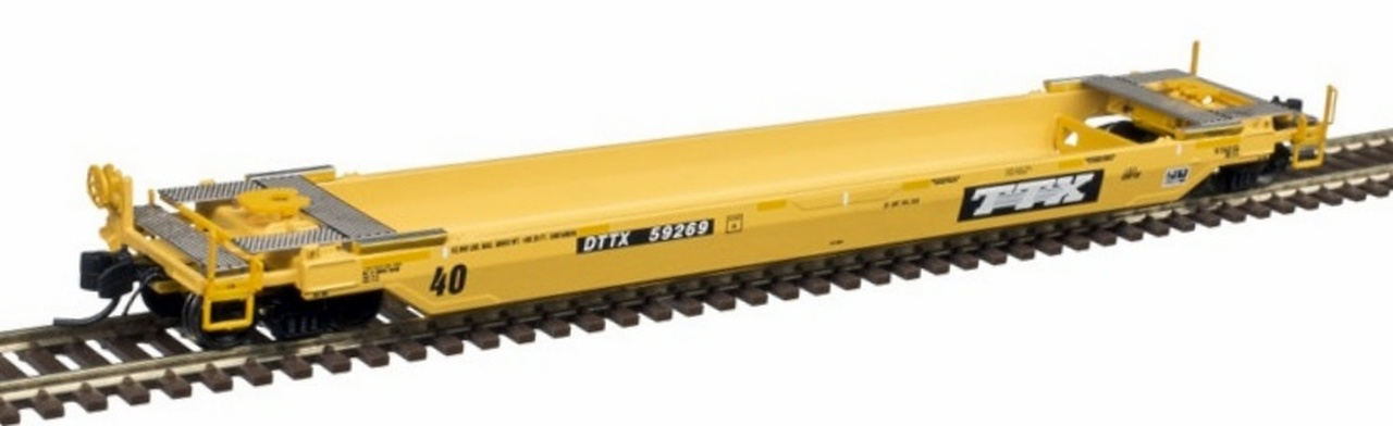 N Scale - Atlas - 50 005 290 - Container Car, Single Well, Gunderson TwinStack - Trailer Train - 59049