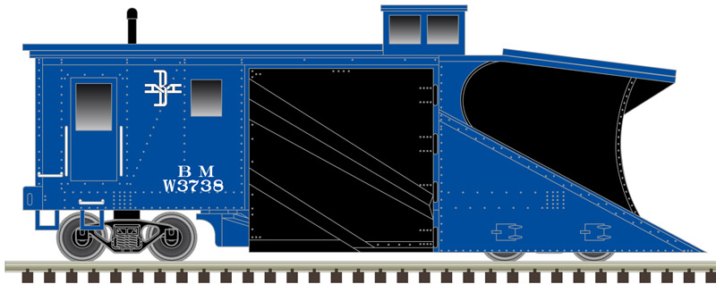 N Scale - Con-Cor - 1220 - Maintenance of Way, Snow Plow, Leslie - Maintenance of Way