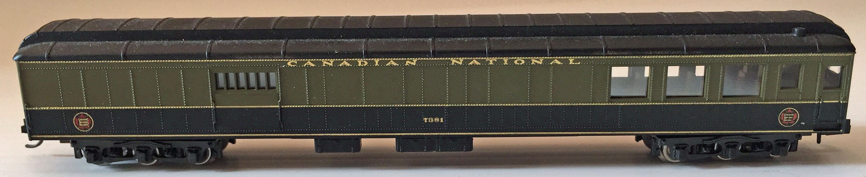 N Scale - Rivarossi - 7381 - Passenger Car, Heavyweight, Baggage - Canadian National - 7381
