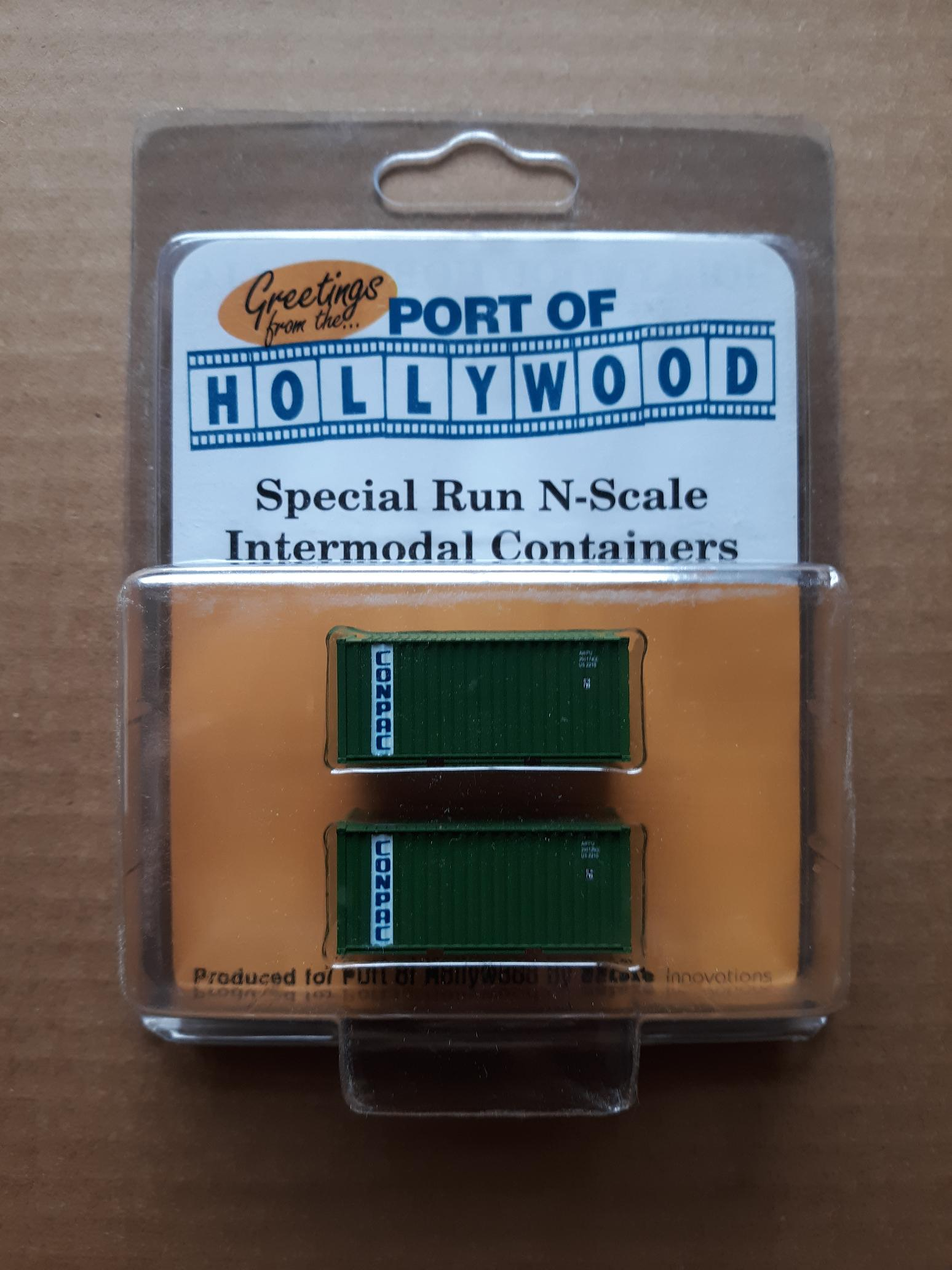 N Scale - Port of Hollywood - Conpac - Container, 20 Foot, Smooth, Refrigerated - Conpac - 290129, 290174