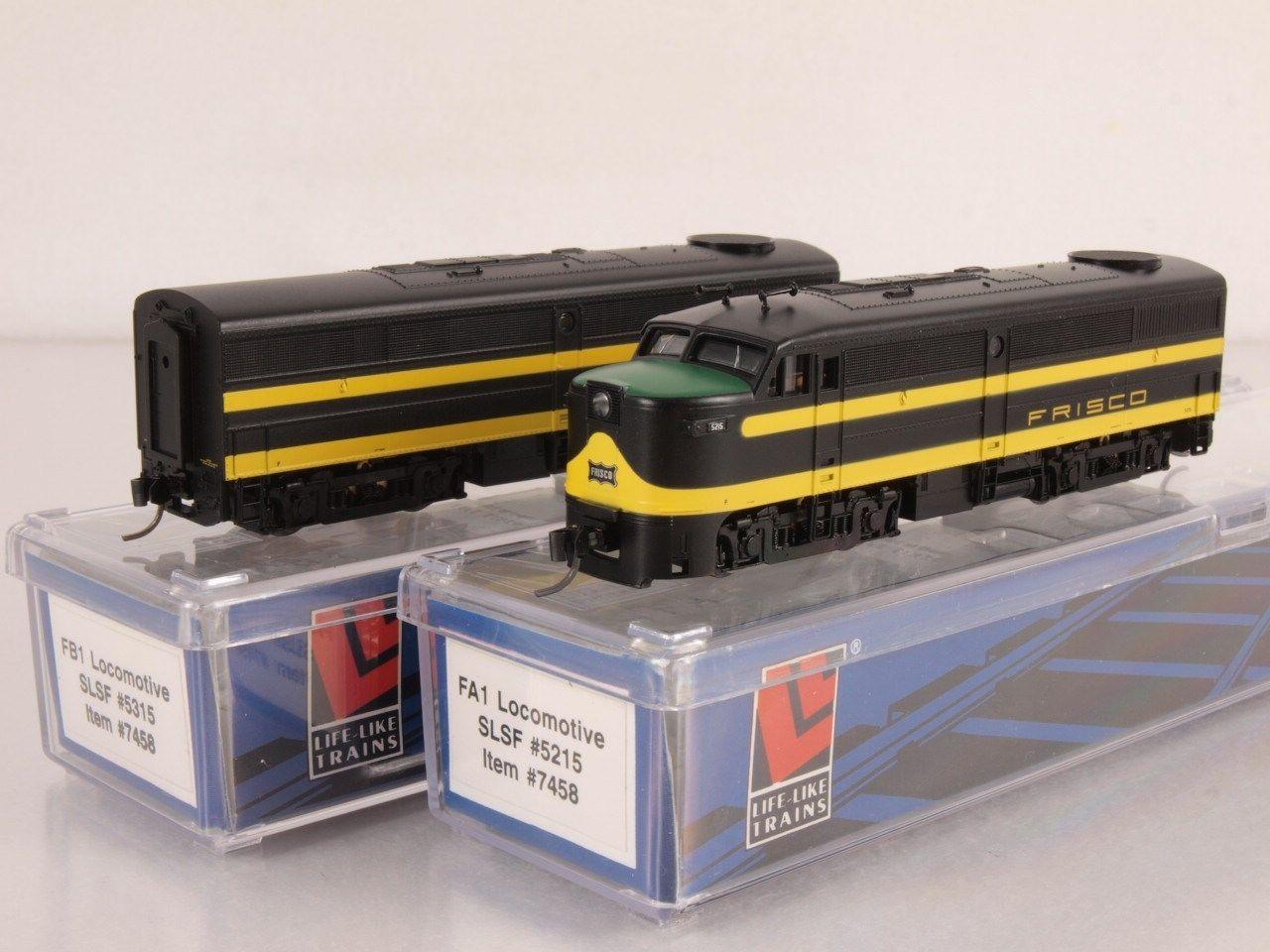 N Scale - Life-Like - 7458 - Locomotive, Diesel, Alco FA/FB - Frisco