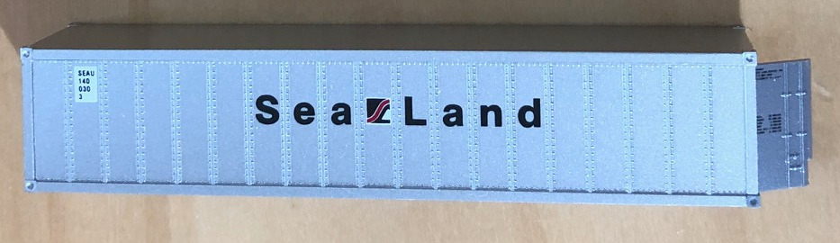 N Scale - Micro-Trains - 81020 - Container, Intermodal, 40 Foot, Ribbed Side - Sealand - 1400353
