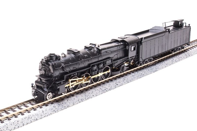 N Scale - Broadway Limited - 3075 - Locomotive, Steam, 4-8-2 Mountain M1 - Painted/Unlettered