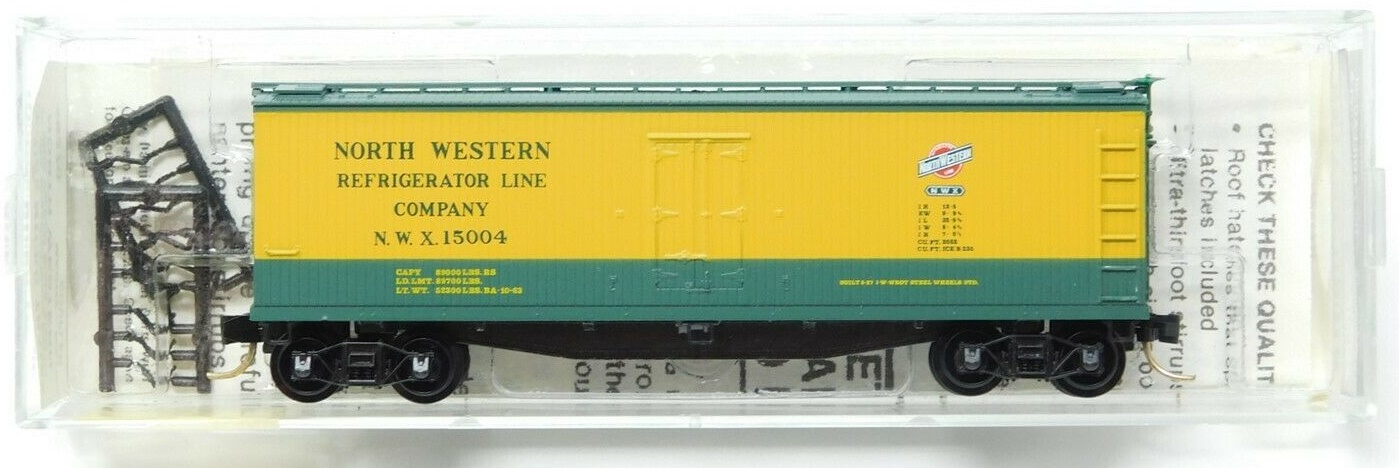 N Scale - Micro-Trains - 49270 - Reefer, Ice, 40 Foot, Wood - North Western Refrigerator - 15004