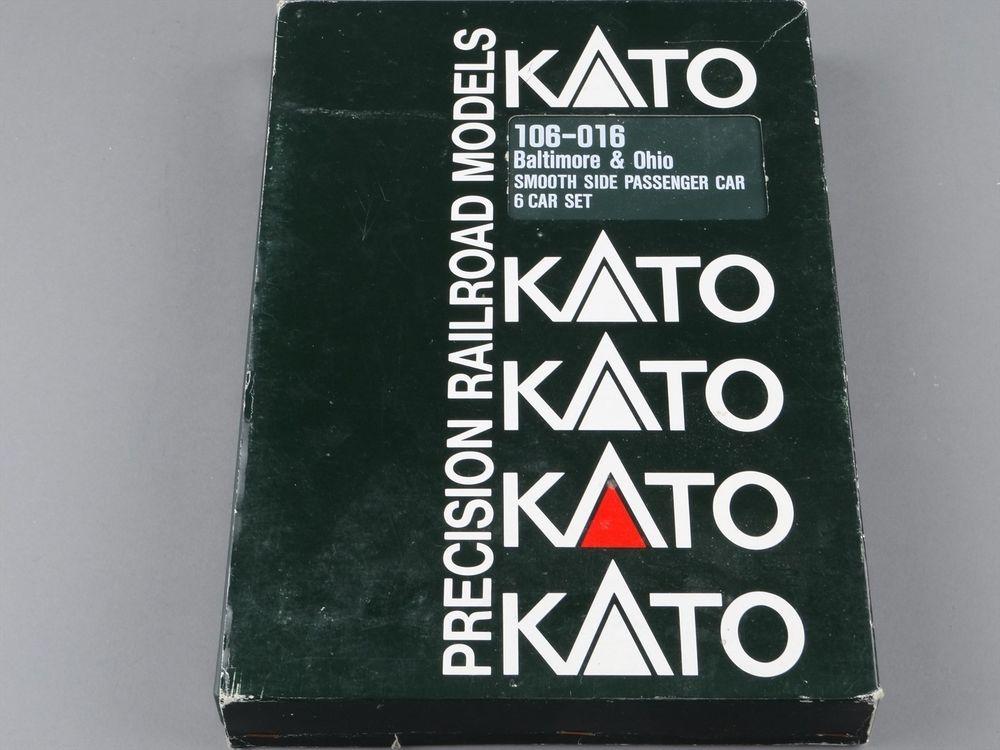 N Scale - Kato USA - 106-016 - Baltimore & Ohio 6-Car Set - Baltimore & Ohio