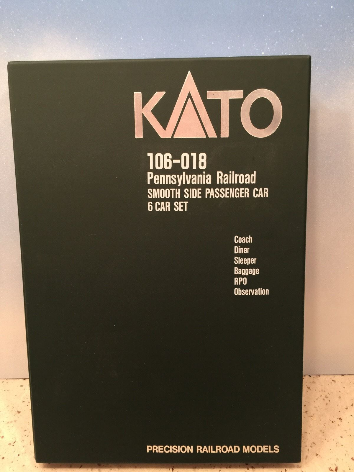 N Scale - Kato USA - 106-018 - Passenger Car, Lightweight, Smoothside - Pennsylvania - 6-Pack