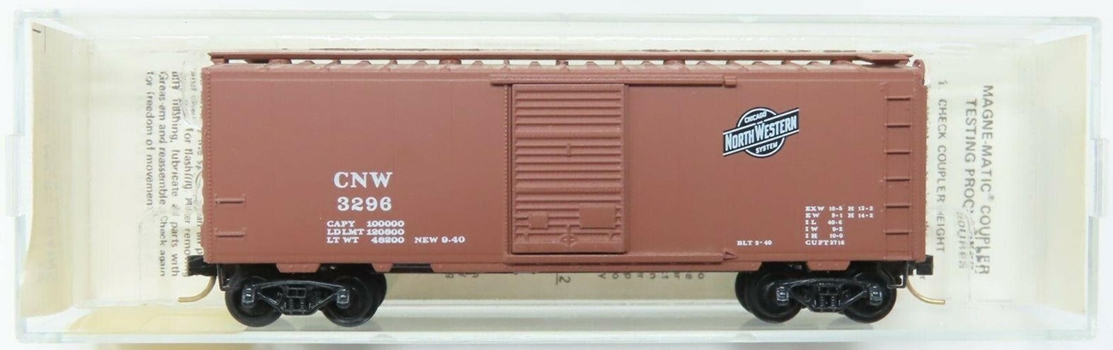 N Scale - Micro-Trains - 20250 - Boxcar, 40 Foot, PS-1 - Chicago & North Western - 3296