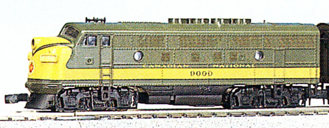 N Scale - Kato USA - 176-074 - Locomotive, Diesel, EMD F3 - Canadian National - 9000