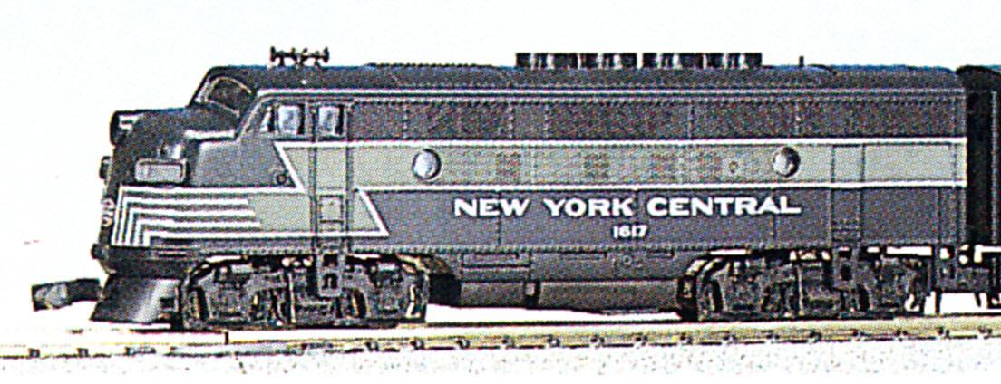 N Scale - Kato USA - 176-075 - Locomotive, Diesel, EMD F3 - New York Central - 1617
