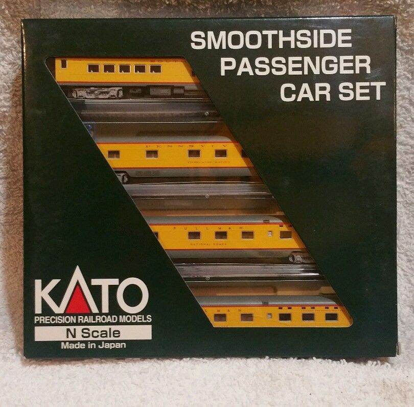 N Scale - Kato USA - 106-1301 - Union Pacific Connections 4-Car Set D - Union Pacific - 3601, Tippecanoe Rapids, American Sunset, National Homes