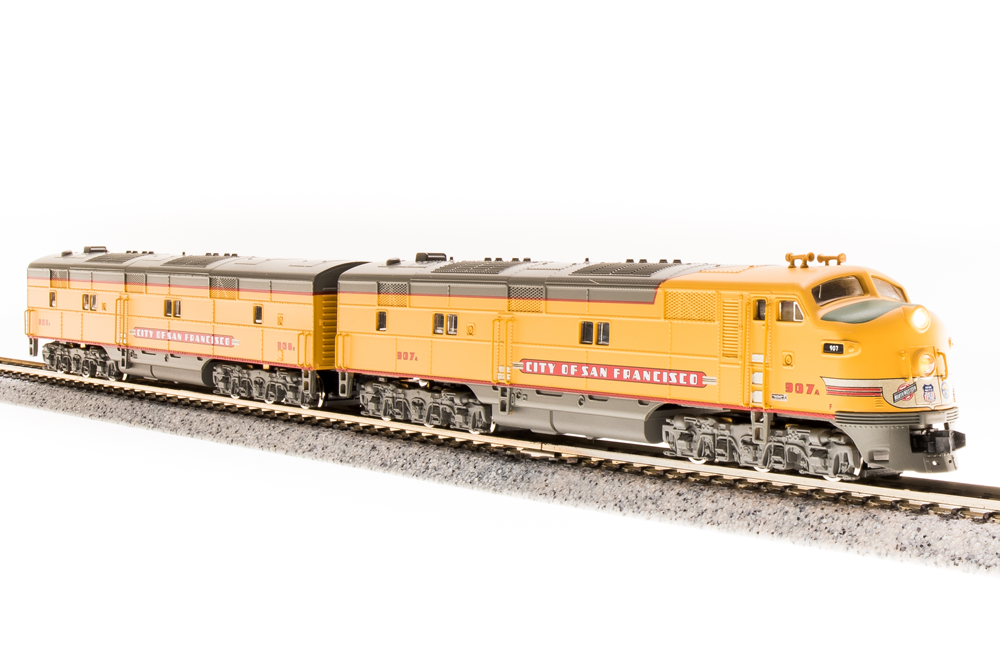 N Scale - Broadway Limited - 3222 - Locomotive, Diesel, EMD E7 - Union Pacific - 907A/908B