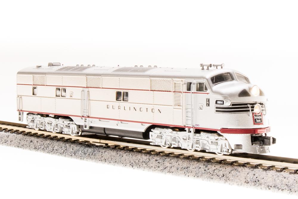 N Scale - Broadway Limited - 3224 - Locomotive, Diesel, EMD E7 - Burlington Route - 9917B