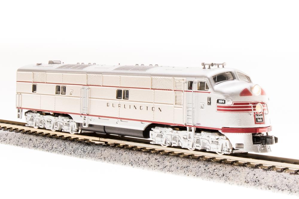 N Scale - Broadway Limited - 3226 - Locomotive, Diesel, EMD E7 - Burlington Route - 9923B