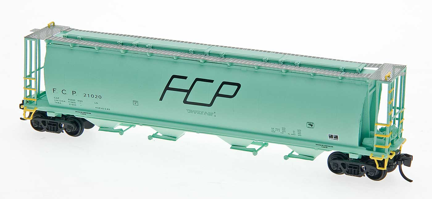 N Scale - InterMountain - 65132-06 - Covered Hopper, 4-Bay, Cylindrical - Ferrocarril Del Pacifico - 21395
