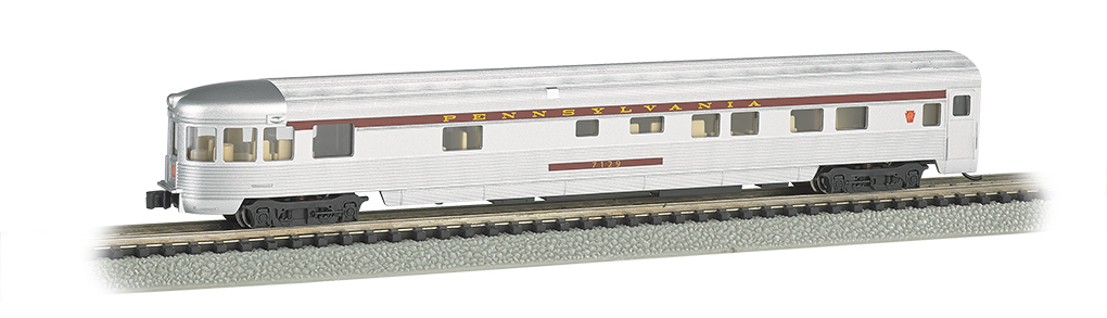 N Scale - Bachmann - 14552 - Passenger Car, Streamlined, Observation - Pennsylvania - 7129