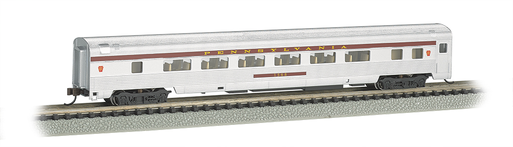 N Scale - Bachmann - 14752 - Passenger Car, Streamlined, Coach - Pennsylvania - 1568