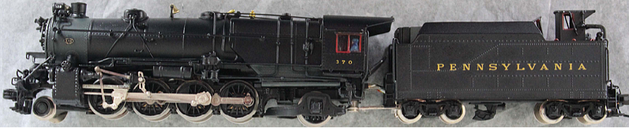 N Scale - GHB International - GHB-B4 - Locomotive, Steam, 2-8-2 Heavy Mikado - Pennsylvania - 1454