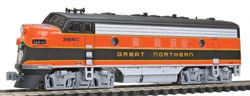 N Scale - Kato USA - 176-2133 - Locomotive, Diesel, EMD F7 - Great Northern - 365C