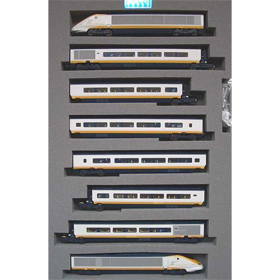 N Scale - Kato Lemke - 10-327 - Passenger Train, Electric, TGV - Eurostar - 3201 (x2)