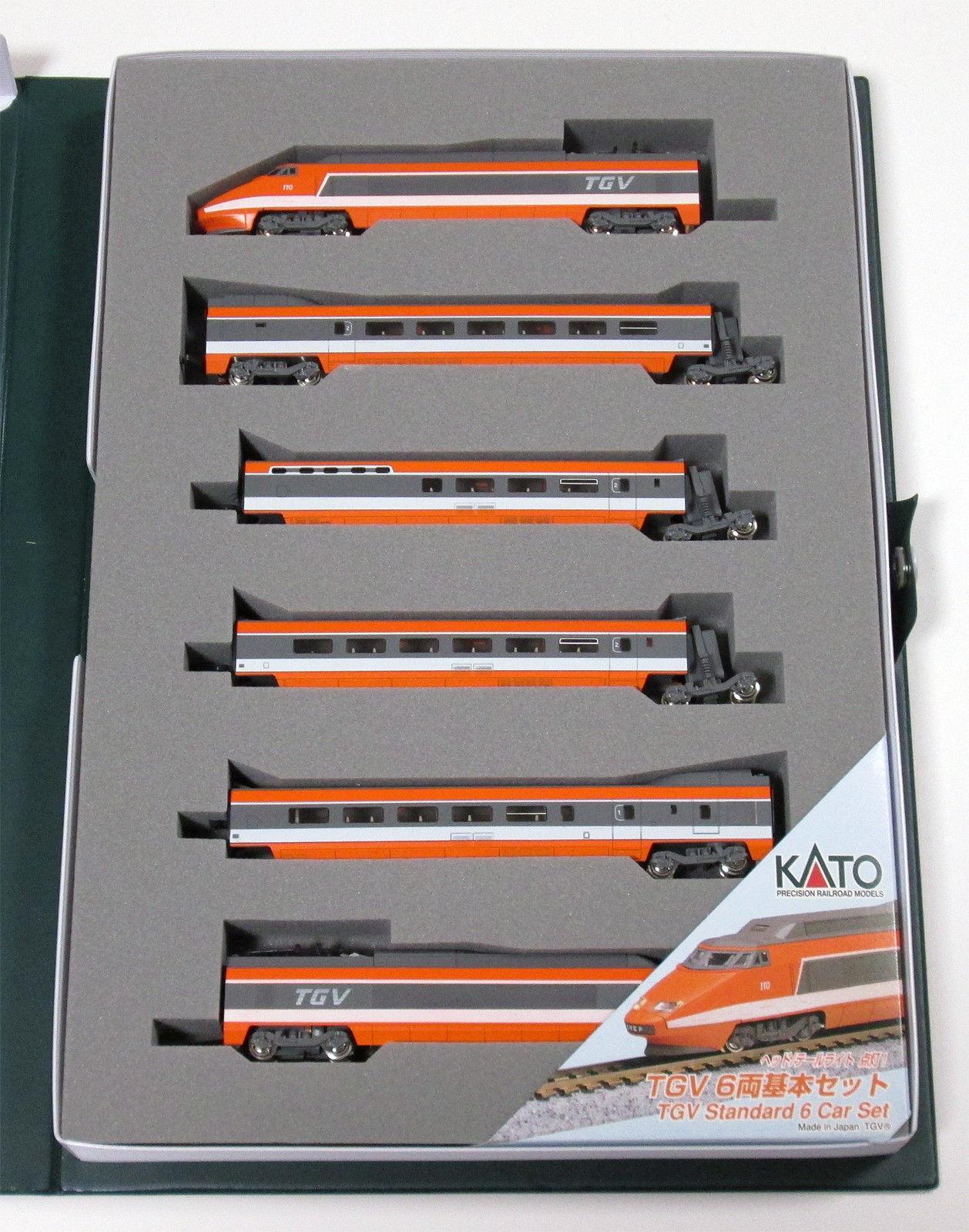 N Scale - Kato Lemke - 10-198 - Passenger Train, Electric, TGV - SNCF - 110 (Sud Est)