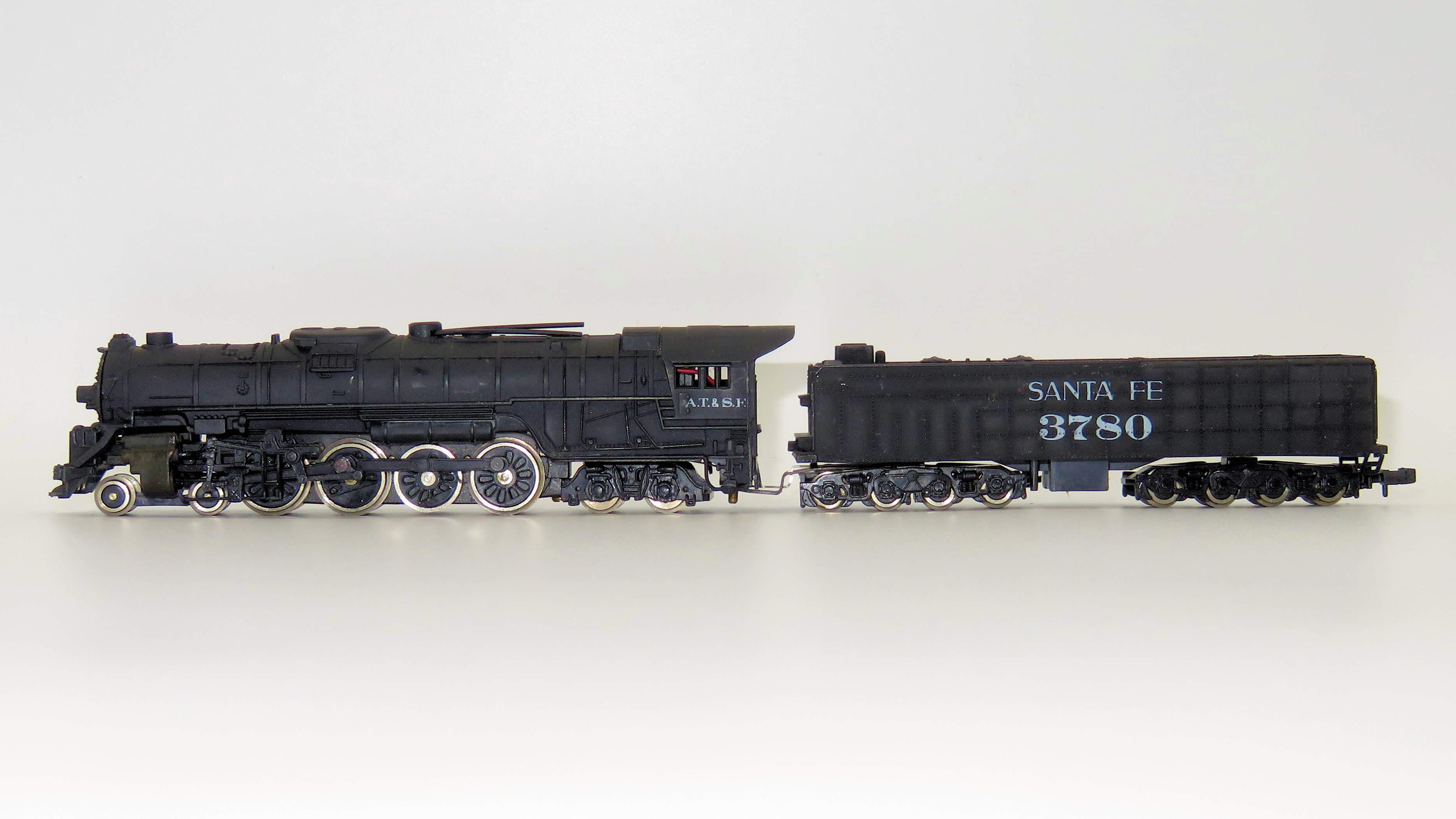 N Scale - Bachmann - 4786 - Engine, Steam, 4-8-4 Northern - Santa Fe - 3780