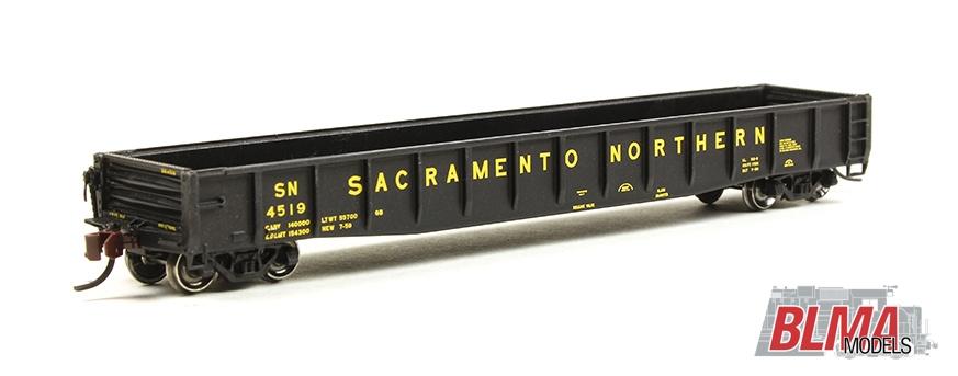 N Scale - BLMA - 14066 - Gondola, 52 Foot, ACF 70-Ton - Sacramento Northern - 4525