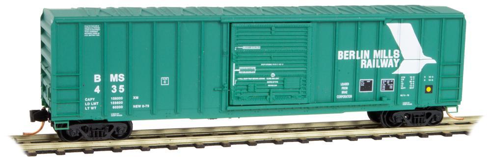 N Scale - Micro-Trains - 025 00 930 - Boxcar, 50 Foot, FMC, 5077 - Berlin Mills - 435