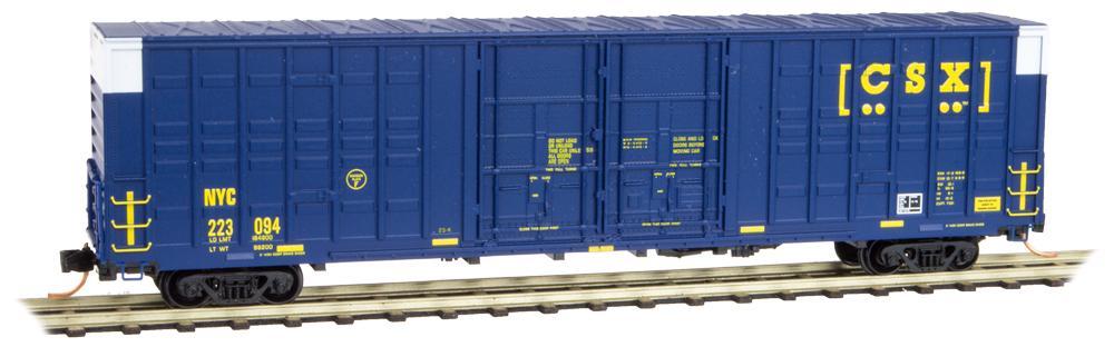 N Scale - Micro-Trains - 103 00 120 - Boxcar, 60 Foot, Berwick, Hi-Cube Waffle - CSX Transportation - 223094