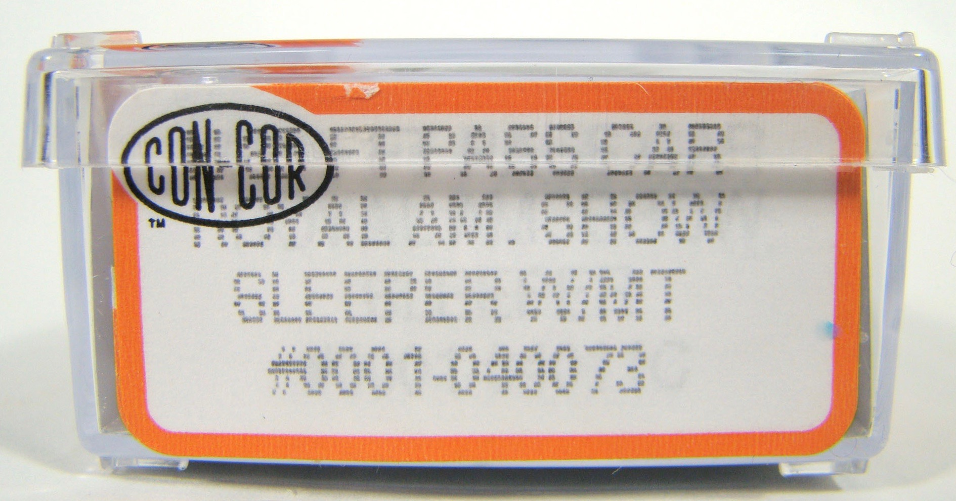 N Scale - Con-Cor - 0001-04011C - Passenger Car, Smoothside, 85 Foot Sleeper - Royal American Shows - 72