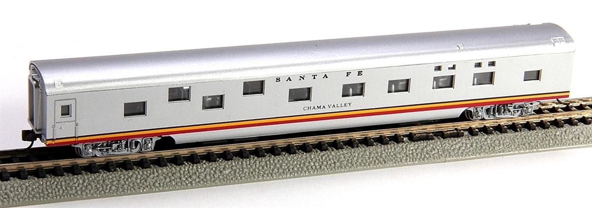N Scale - Con-Cor - 0001-040077 - Passenger Car, Smoothside, 85 Foot Sleeper - Santa Fe - Chama Valley