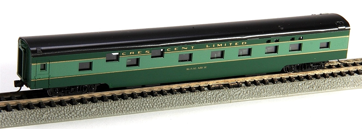 N Scale - Con-Cor - 0001-040081 - Passenger Car, Smoothside, 85 Foot Sleeper - Southern - Royal Arch
