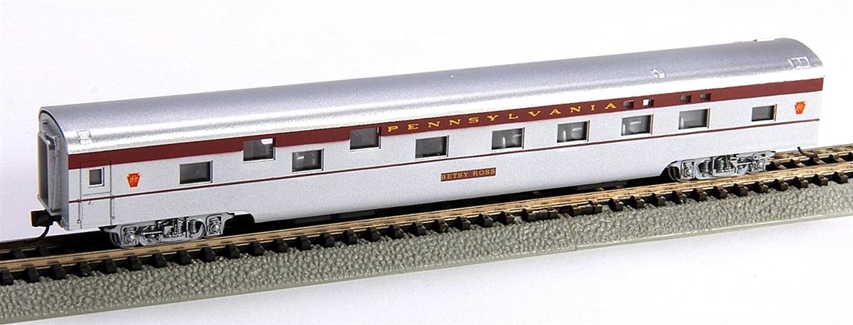 N Scale - Con-Cor - 0001-040089 - Passenger Car, Smoothside, 85 Foot Sleeper - Pennsylvania - Betsy Ross