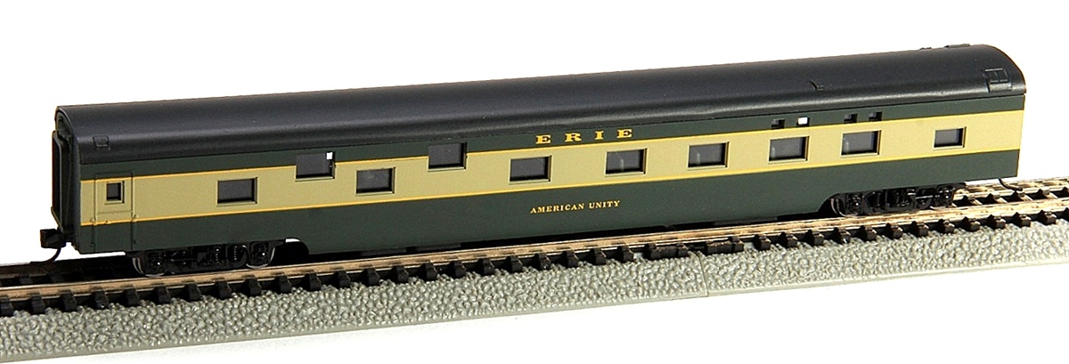 N Scale - Con-Cor - 0001-040098 - Passenger Car, Smoothside, 85 Foot Sleeper - Erie - American Unity