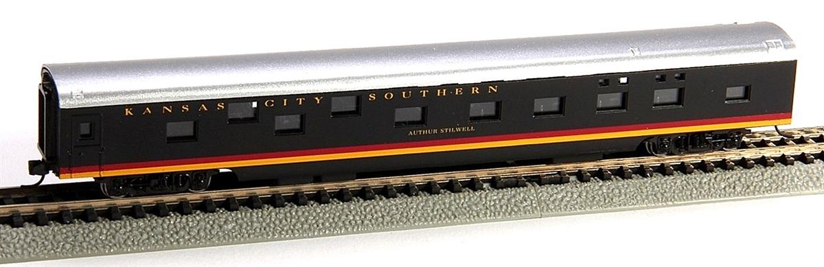 N Scale - Con-Cor - 0001-040100 - Passenger Car, Smoothside, 85 Foot Sleeper - Kansas City Southern - Arthur Stilwell