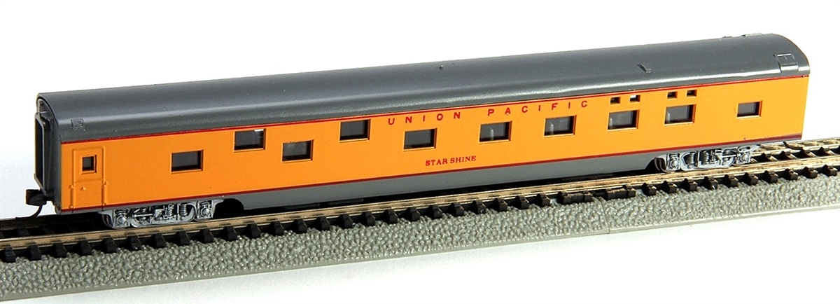 N Scale - Con-Cor - 0001-040075-1 - Passenger Car, Smoothside, 85 Foot Sleeper - Union Pacific - Star Shine