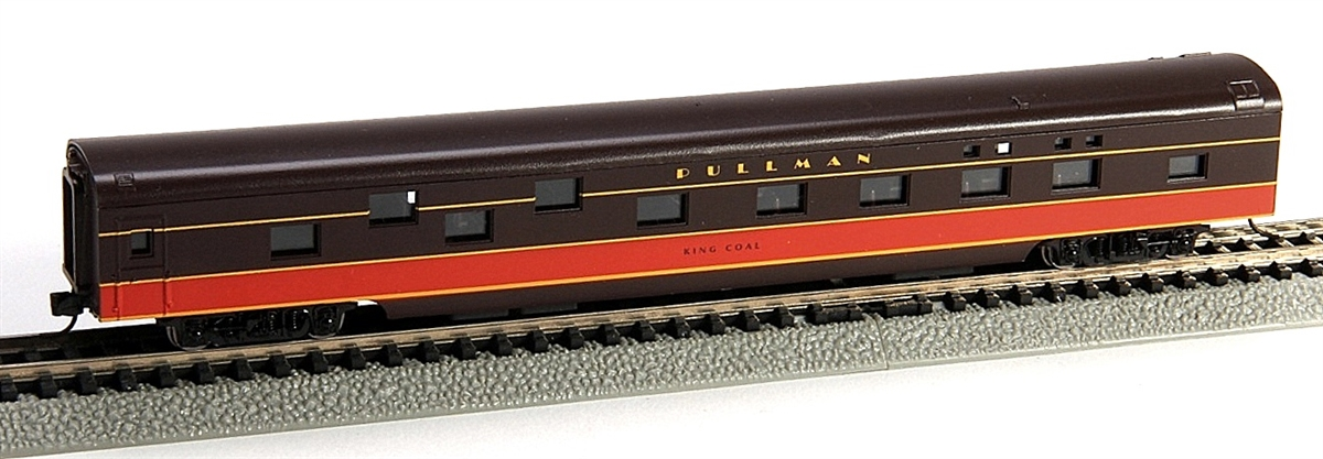 N Scale - Con-Cor - 0001-040099-1 - Passenger Car, Smoothside, 85 Foot Sleeper - Illinois Central - King Coal