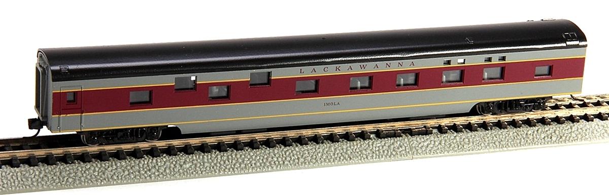 N Scale - Con-Cor - 0001-040101-1 - Passenger Car, Smoothside, 85 Foot Sleeper - Lackawanna - Imola