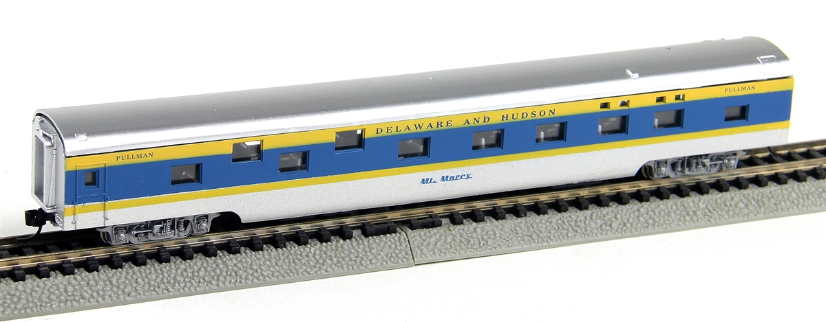 N Scale - Con-Cor - 0001-040107 - Passenger Car, Smoothside, 85 Foot Sleeper - Delaware & Hudson - Mt. Marcy