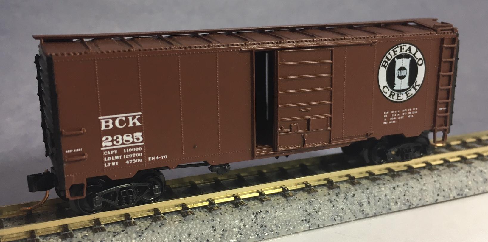 N Scale - InterMountain - 2385 - Boxcar, 40 Foot, AAR 1937 - Buffalo Creek - 2385