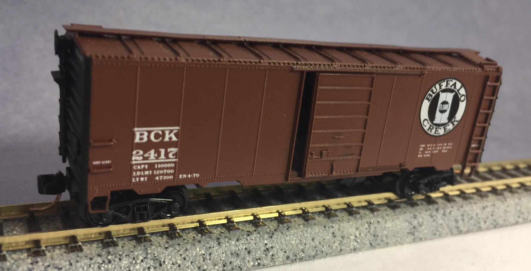 N Scale - InterMountain - 2417 - Boxcar, 40 Foot, AAR 1937 - Buffalo Creek - 2417