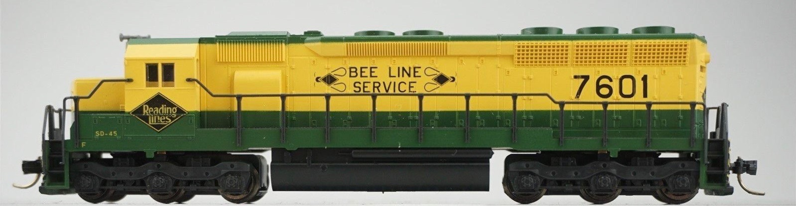 N Scale - Kato USA - 176-3114 - Locomotive, Diesel, EMD SD45 - Reading - 7601
