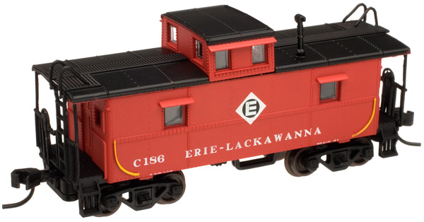 N Scale - Atlas - 39865 - Caboose, Cupola, Steel, C&O - Erie Lackawanna - C186