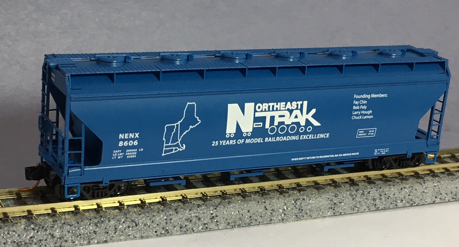 N Scale - Micro-Trains - NSC MTL 07-47 - Covered Hopper, 3-Bay, ACF 4650 - Northeast NTRAK - 8606