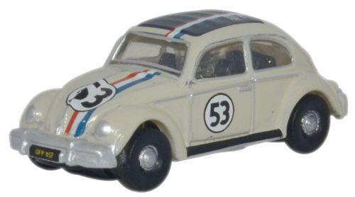 N Scale - Oxford Diecast - NVWB001 - Automobile, Volkswagen, Beetle - Herbie The Love Bug - OFP 857