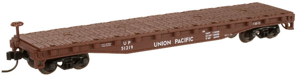 N Scale - Atlas - 38193A - Flatcar, 50 Foot - Union Pacific - 51219