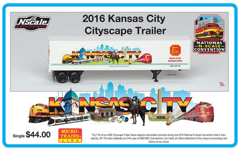 N Scale - Micro-Trains - NSE MTL 16-03 - Trailer, 45 Foot, Box - Kansas City Southern - 62116