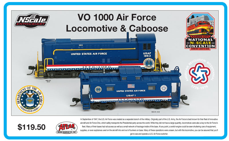 N Scale - Atlas - NSE ATL 16-01-02 - Stock Car, 40 Foot, Despatch - United States Air Force - 1863 and 1