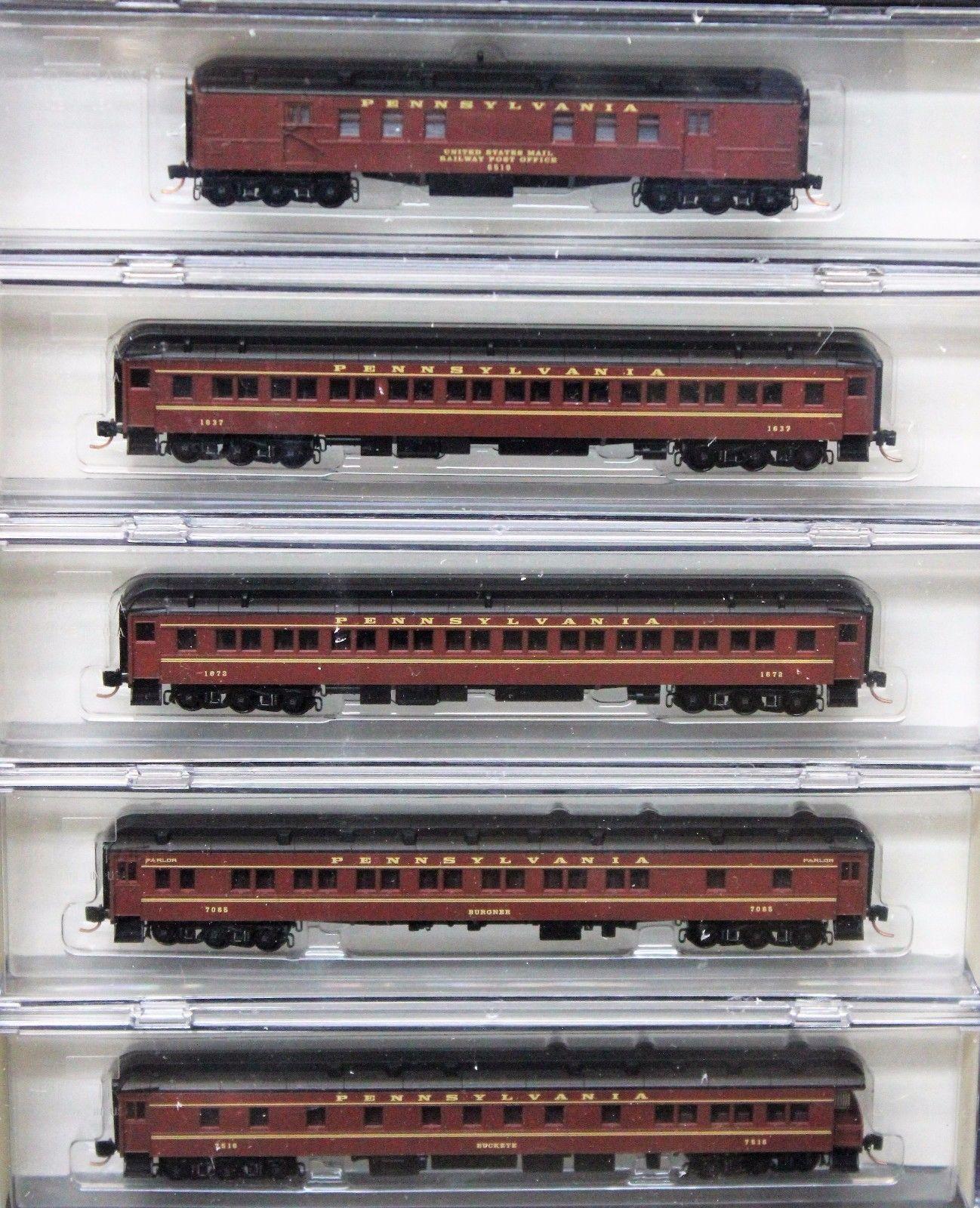 N Scale - Micro-Trains - 993 01 460 - Passenger Car, Heavyweight, Pullman - Pennsylvania - 5-Pack