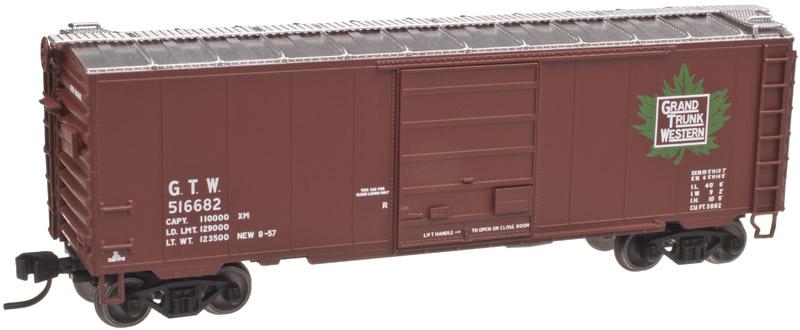 N Scale - Atlas - 50 001 627 - Boxcar, 40 Foot, PS-1 - Grand Trunk Western - 516682