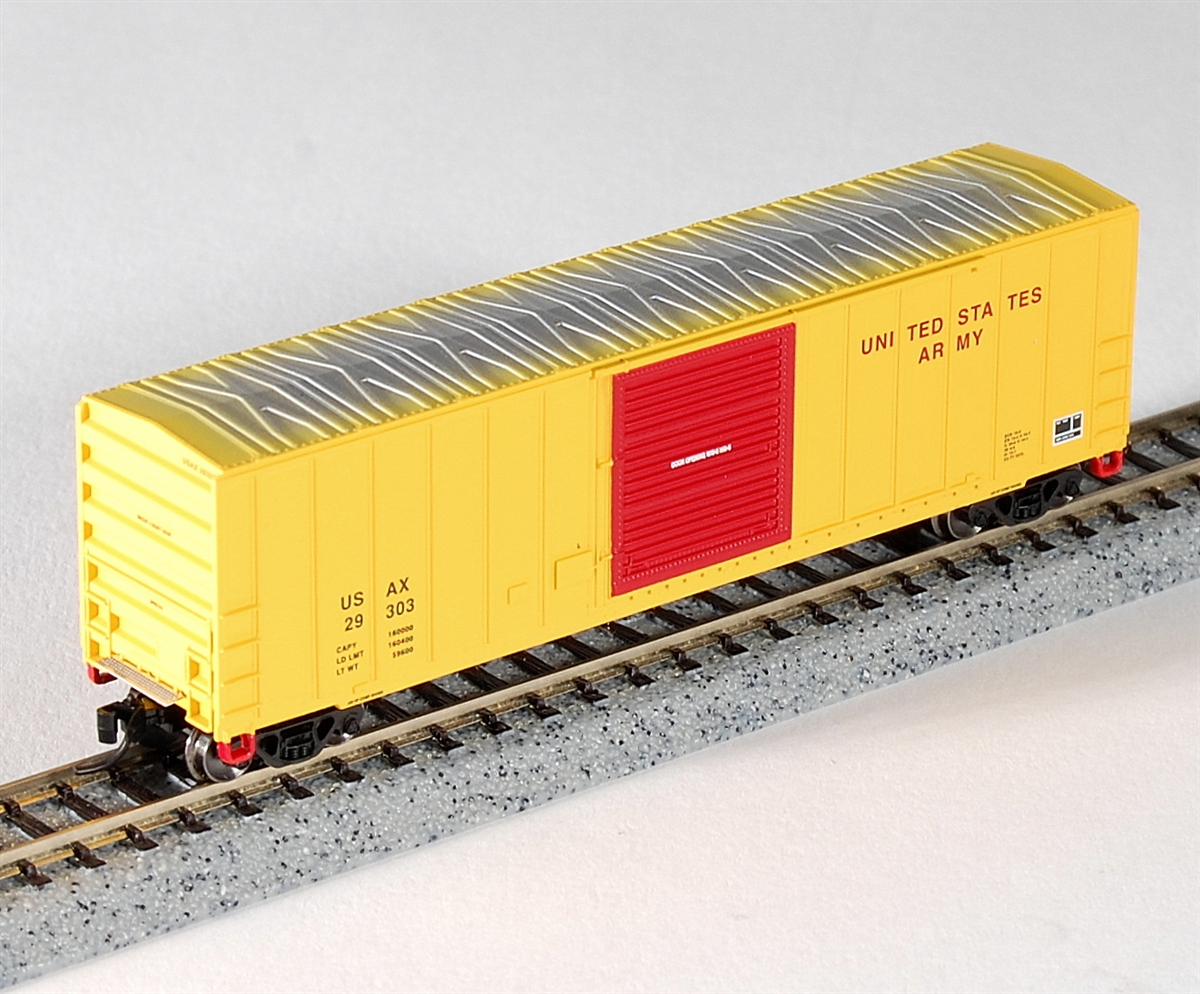 N Scale - Fox Valley - 80337 - Boxcar, 50 Foot, FMC, 5347 - United States Army - 29602